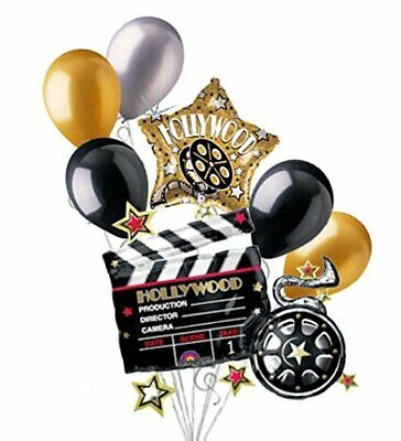 5 inch Movie Clapboard Photo Holder Balloon Weight 7 ounces Hollywood Night