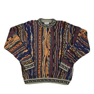COOGI Australia dicker Pullover selten Vintage Authentic Multicolor 90s Medium