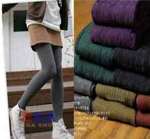 Womens-Thick-Knit-Winter-Leggings-Fashion-Footed-Warm-Cotton-Stockings