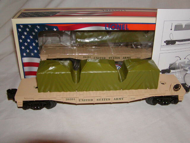 Lionel 6-39391 Made in U.S.A. Army Flat Car O 027 2013 Armed Forces Collection