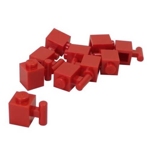 10 NEW LEGO Brick, Modified 1 x 1 with Handle Red