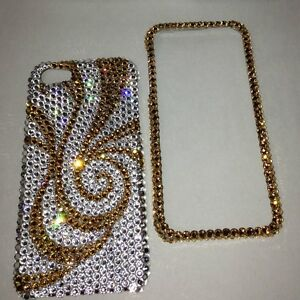 Crystal-Gold-Bling-Case-Cover-For-IPHONE-7-8-4-7-Made-With-SWAROVSKI-Elements