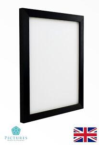 Black-Photo-Picture-Frame-19mm-20x20-20x25-20x30-20x35-20x40-20x50cm-Mount-Glass