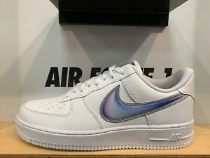 Nike-Air-Force-1-Low-Big-Swoosh-White-Racer-Blue-Size-8-13-New-AO2441-101