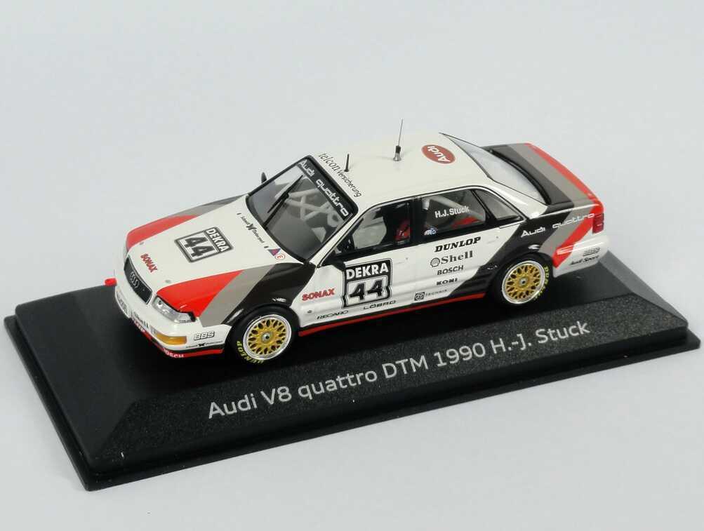 1 43 AUDI v8 DTM 1990    sms  Nº 44 H.J. stuc-Dealer-Edition-OEM 9733af