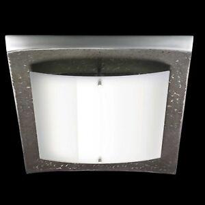 Détails sur Soldes Shine Plafonnier Led Shine -alu Brun Foncé Aluminium  Verre