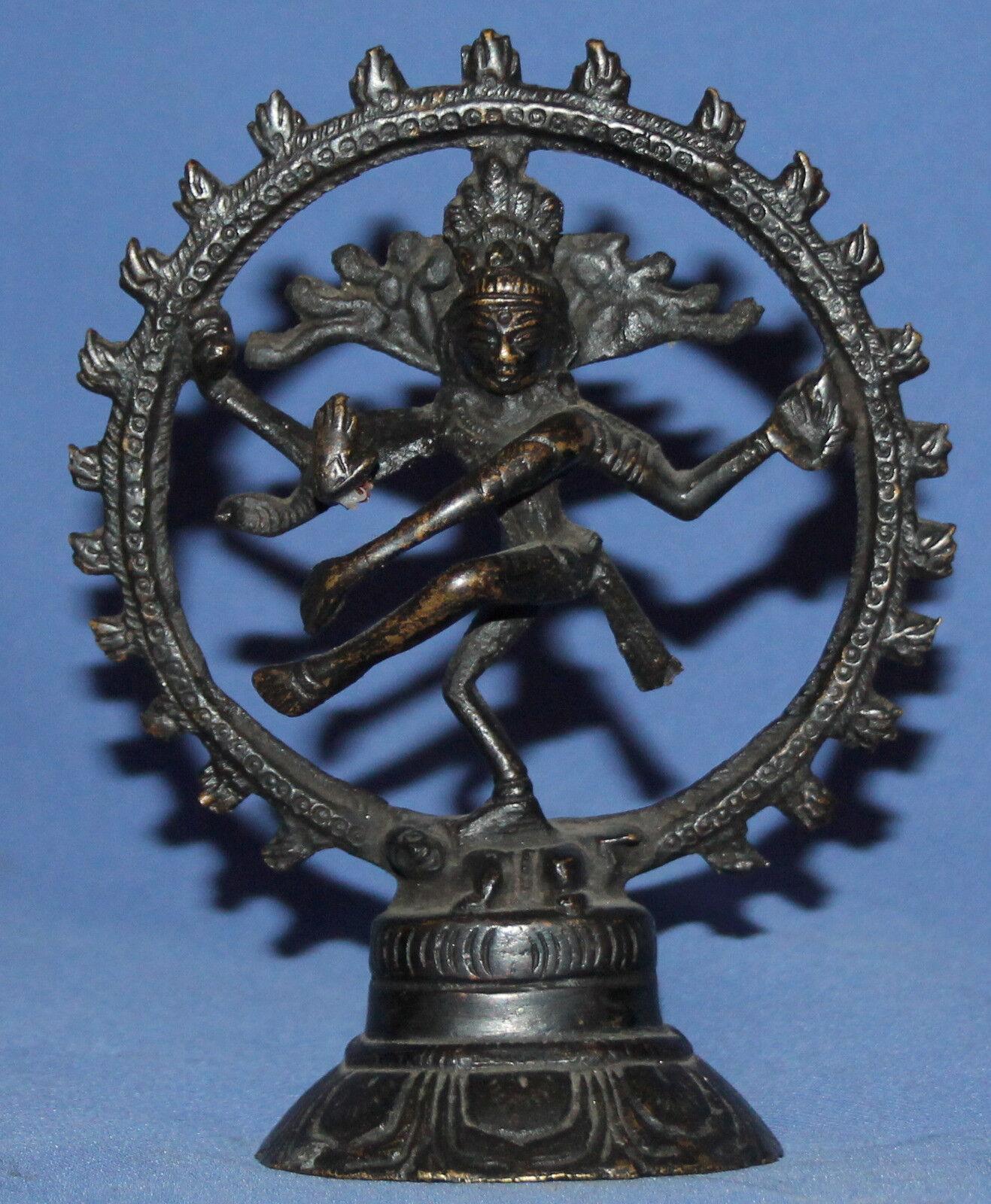 Vintage Bronce Hindú Shiva la Estatuilla Bailarina cósmico