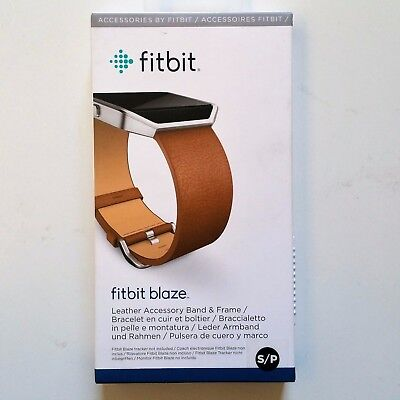 Wrist Band /& Frame OEM Genuine Small New Fitbit Blaze Replacement Leather