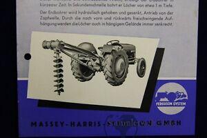 Agrar, Forst & Kommune Vk Prospekt Ferguson Erdbohrer Massey Harris Ferguson Business & Industrie GroßZüGig Org