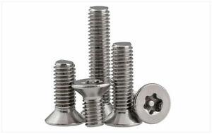 CNC Lathe Tool Kit Tamper Torx Flat Head Security Machine Screw Bolt 20pcs Set
