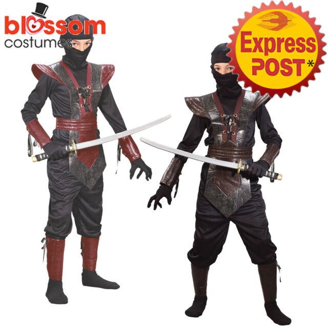 Child Samurai Boy Costume Ninja Warrior Fancy Dress Book Week Day Outfit New