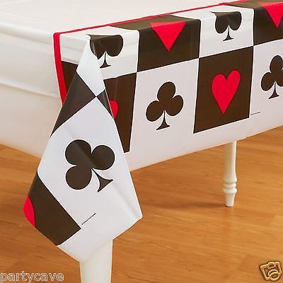 CASINO LAS VEGAS PARTY CARD NIGHT SUIT TABLECOVER THEME TABLEWARE DECORATION