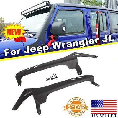 52inch Led Light Bar Mount Bracket Textured Black For Jeep Wrangler Jl 2018 2019 Ebay