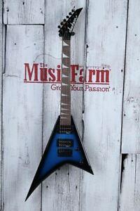 Jackson-JS1X-RR-Minion-Rhoads-V-Electric-Guitar-Metallic-Blue-with-FREE-Gig-Bag