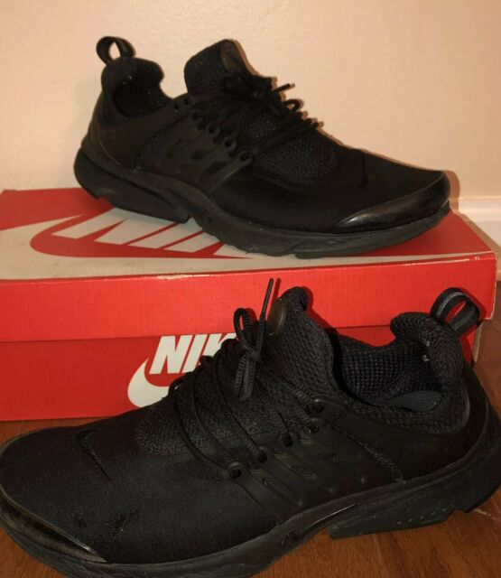pick up 5e1c9 5c1b9 Nike Air Presto Essential Mens 848187-011 Triple Black Running Shoes Size 10