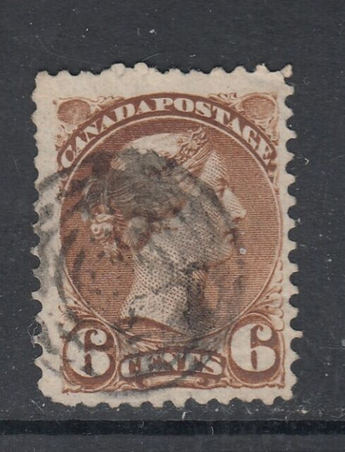 Canada Scott #39  6 cent yellow brown