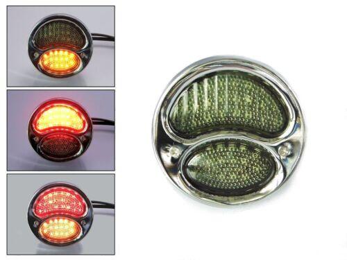 Integriertem LED Stop Heckleuchten /& Blinker für Classic Retro Kleinlaster Chrom