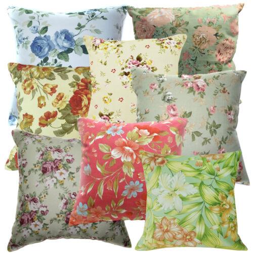 Home & Garden Wild Rose Lily Leaf Print Cotton Canvas Cushion ...