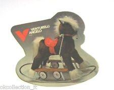 ADESIVO anni '70 / Old Sticker PUBBLICITA' GIOCATTOLO CAVALLO A DONDOLO (cm 9x8)