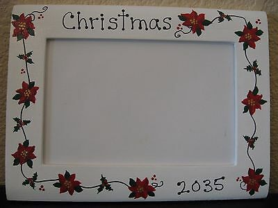 Christmas 2017 family holiday baby poinsettias holiday gift photo picture frame