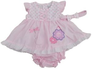 BNWT  Baby Girls summer cherry dress outfit  knickers /& hairband NB 0-3m 3-6 m