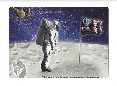 2019 Apollo 11 50th Anniversary Engraved Print Giant Leap Out At Mint For Sale Online Ebay