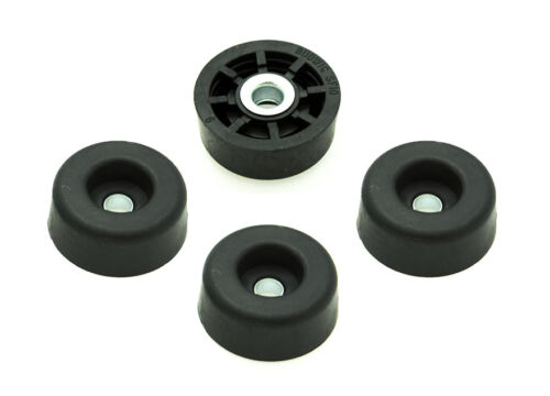 4 ROUND RUBBER FEET  BUMPERS 1//2 H x 1 W FREE S/&H MADE IN USA RADIO AMPS