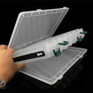 Double Sides 14 Compartments Fishing Lure Bait Hook Tackle Storage Box Case