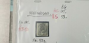NEWFOUNDLAND-3-CENT-PURPLE-GREY-STAMP-G-U-SG58B