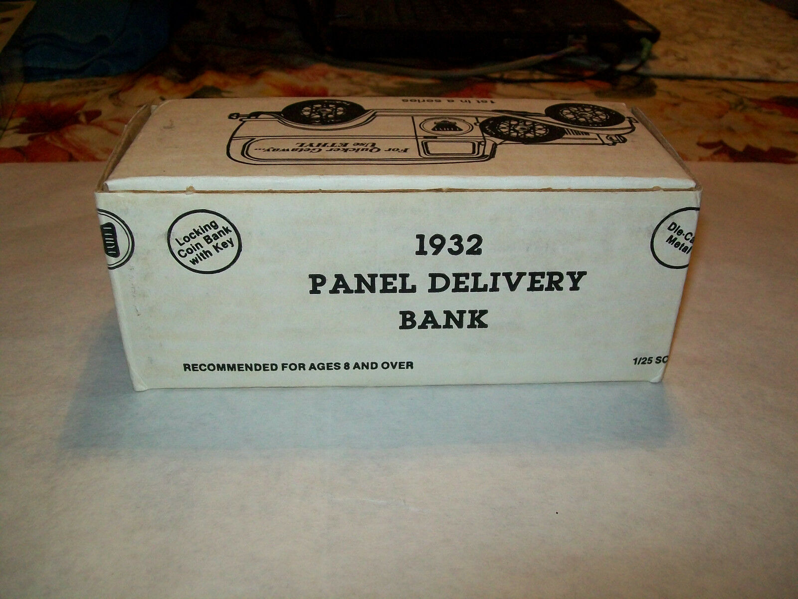 Ertl UP 1 1 1 25  Ethyl Gasoline   1932 Ford Panel Delivery Bank - Sampler 029d46