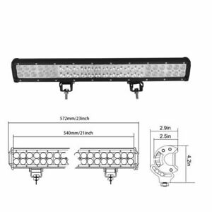 LED-Light-Bar-22-inch-12V-126W-Flood-Offroad-4WD-Roof-Spot-Lamp