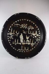 CHINESE-VINTAGE-MOTHER-PEARL-INLAY-LACQUER-TRAY