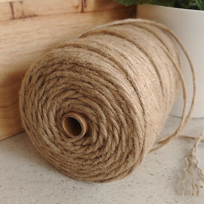 Natural Hessian Jute Craft String Rustic Nautical Cord Rope Thickness 4 7 mm 5