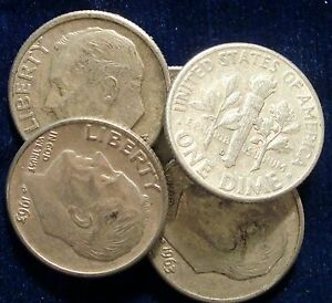 from OBW Bank BU Roll 90/% silver 1963-D Roosevelt Dime BU