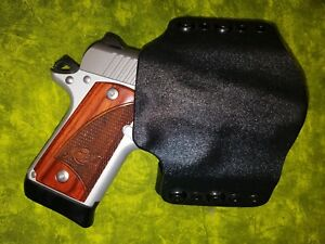 HOLSTER BLACK CARBON KYDEX FITS Kimber MICRO 9mm w/CRIMSON TRACE IWB
