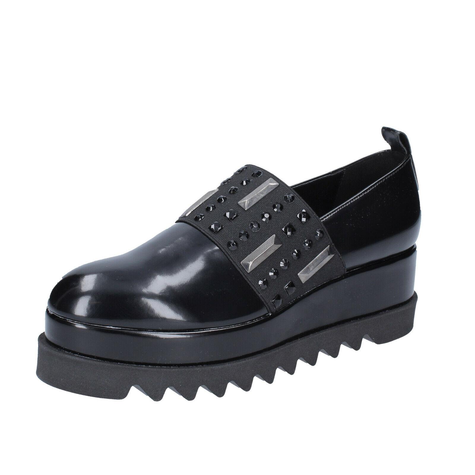 Chaussures femmes Olga Rubini 40 UE Slip on noir cuir bs833-40