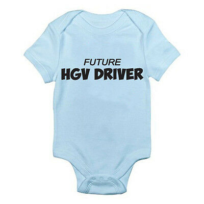 Romper Driving Wagon HGV DRIVER FUTURE Novelty Themed Baby Grow Lorry