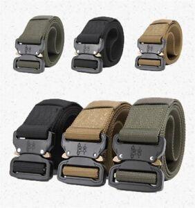 Men-Tactical-Military-Style-Webbing-Nylon-Belt-Heavy-Duty-Quick-Release-Buckle