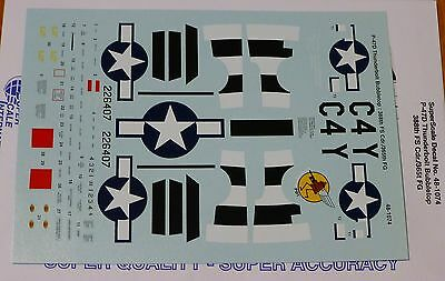 Microscale Decal 1:48 Scale #48-1056 388th FS// 365th FG Luck P-47D Bubble Top
