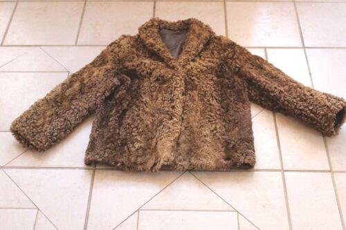 Vintage CURLY LAMB Brown Coat