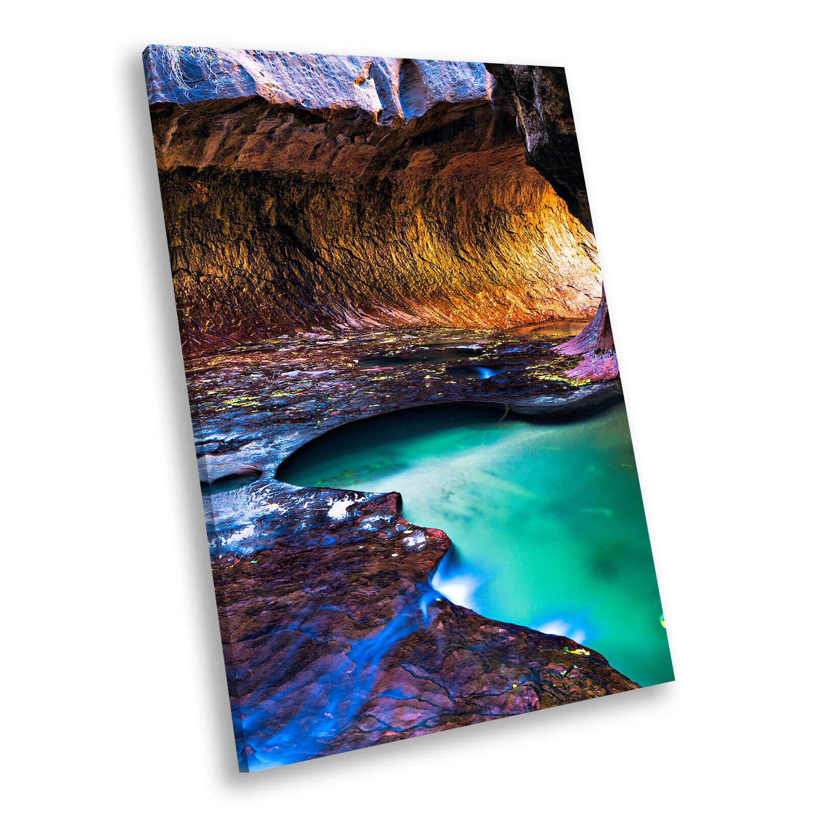 Colourful Cave Nature Cool Portrait Scenic Canvas Wall Art Large Picture Prints