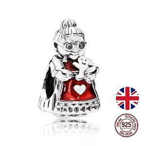 *uk* Baking Grandmother Nan 925 Sterling Silver Charm Bead Bracelet Grandma Gift Von Der Konsumierenden öFfentlichkeit Hoch Gelobt Und GeschäTzt Zu Werden