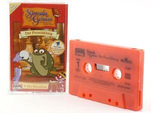 Simsala-Grimm-3-Der-Froschkoenig-rot-Europa-primo-Hoerspiel-MC-Kassette