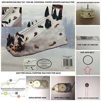 Mr Christmas -winter Wonderland Half Pipe -replacement Part - Motor/belt Kit