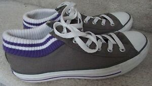 05c82fb1e4f0 Converse All Star with Built in Sock Trim Size Men 7 Women 9 Gray w ...