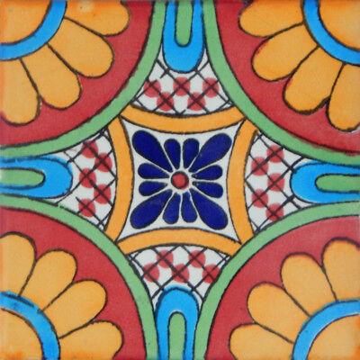 50 Mexican Talavera Decorative Handmade Tiles Folk Art  C187