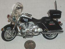 "Diecast Maisto Black State Trooper Motorcycle 5"" USED - NICE (See Photo)"