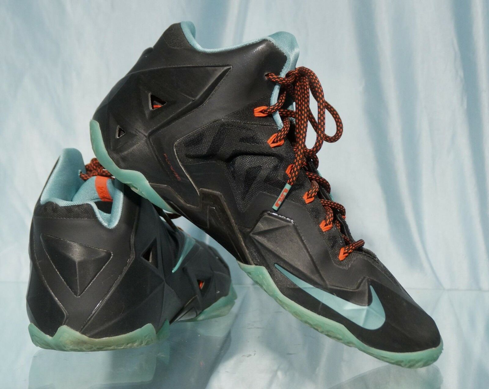 - nero & & & blue nike flywire king james basket sopra le scarpe basse sz 10 ce0205