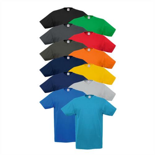 12er Pack V-Neck T-shirts fruit of the loom tshirt Valueweight col en V NOUVEAU