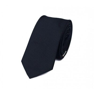 Schmale Krawatte Fabio Farini blau schwarz